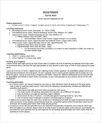 Soccer Coach Resume