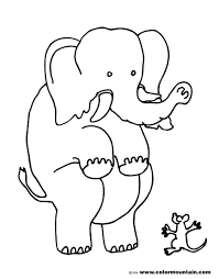 Small Picture Elephant Coloring Pages 2 Funny Coloring