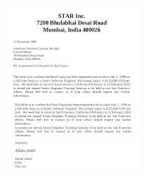 Letterhead For Employment Sample Of Employment Verification Letter Company Ijbcr Co