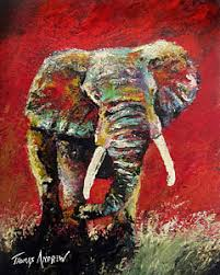 alabama elephant wall art painting crimson charge by thomas andrew on alabama elephant wall art with alabama elephant art fine art america