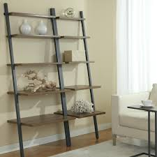 Leaning Ladder Bookcase Walmart Shelf Desk Plans Bookshelf.