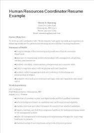 Hr Coordinator Cv Sample Hr Coordinator Resume Templates At Allbusinesstemplates