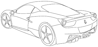 Ferrari Coloring Pages At Getcolorings Com Free Printable Car