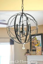 farmhouse chandelier diy how to make a farmhouse orb chandelier looks easy enough home plans designs