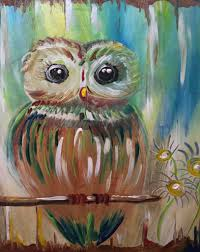 paint party owl rusty bucket dublin paint with wine and canvasrooster