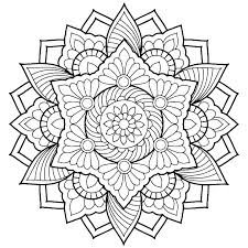Coloring Pages Advanced Mandala Coloring Pages Pdf Best Mandalas