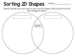 Venn Diagram Of Geometric Shapes Math Sorting 2d Shapes
