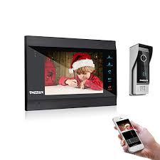 TMEZON <b>7 Inch Wireless</b>/Wifi Smart IP Video Door Phone Intercom ...