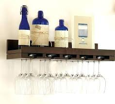 wine glass rack shelf. Brilliant Glass Wall Wine Glass Rack Entertaining Shelves Pottery Barn And  Shelf  In Wine Glass Rack Shelf 0
