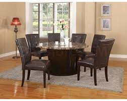 awesome round marble top dining table set with danville of images