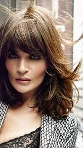 Helena Christensen Beauty účesy Vlasy A Ofiny