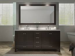 Ace Cambridge 73 inch Double Sink Bathroom Vanity Set Espresso Finish