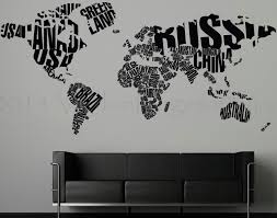 map of countries large world map wall decals top decal vinyl kids abstract vector