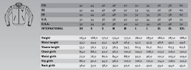Dainese Race Suit Size Chart Dainese Motorcycle Jacket Size Chart Motomania Mobile