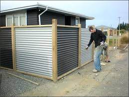 corrugated metal fence fence a
