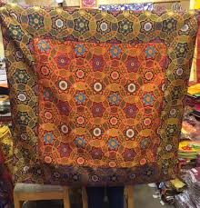tibetan large square silk brocade table cover cloth on large tibetan wall art with malas wall hangings door curtains khatas tibetan large square silk