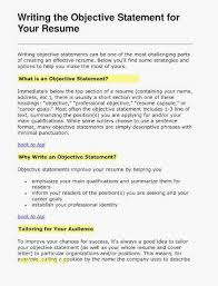 Job Objective For Resume Amazing Best Of Good Job Objectives For Resume Cv Resume