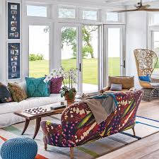 modern living room color. Modern Living Room With Bright Furniture Color