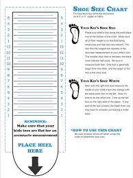Toddler Shoe Measurement Chart Kids Shoe Size Measurement Guide Shoe Size Chart Kids