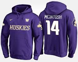 Number - Mcintosh Jojo Men's Huskies Hoodie Apparel And Purple Name Washington 14