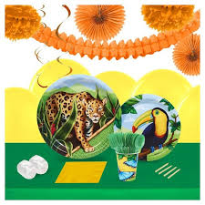 Jungle 16 Guest Party Pk with Decoration Kit : Target