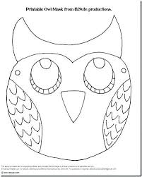 Owl Outline Template Williambmeyer Co