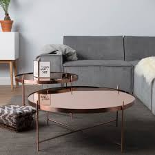 round copper coffee table image 1