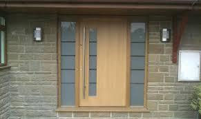 modern front doors. Modern Contemporary Front Doors Oak Door With Satin Glass Side Lights M
