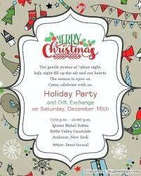 Christmas Wording Samples Handmade Christmas Party Invitation Ideas Combined With More Party