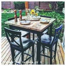 patio bar height table high top sets outdoor set fire clearance round and chairs