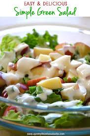 simple green salad with homemade mayo