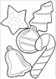 Cookies And Candy Cane For Christmas Coloring Page | Christmas ...