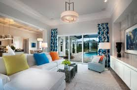 view in gallery vivacious and colorful curtains add character to this contemporary living space
