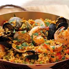 Spicy Andalusian Seafood Paella Recipe ...