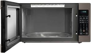 lg lcrt2010bd 2 0 cu ft countertop microwave oven with 1 200 cooking watts open