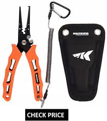 crazyshark aluminum fishing pliers hook remover braid line cutting tools carp scissors with lanyard and sheath 16cm