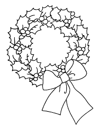Small Picture Coloring Page Christmas wreath coloring pages 5