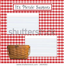 Recipe Page Layout Royalty Free Stock Illustration Of Recipe Layout Page Picnic Theme