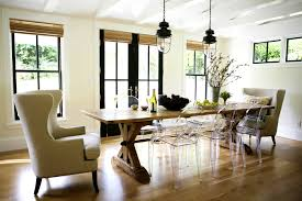 captivating modern rustic dining room table diy trestle full furniture set chairs curtains round lighting sets
