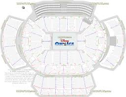 Disney on Ice show mezzanine & terrace seating arrangement review diagram -  Best seat finder chart with precise aisle seat numbering location data -  Atlanta ...