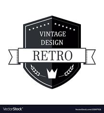 Vintage Logo Vector Retro Vintage Logo Template Royalty Free Vector Image