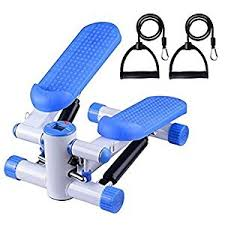 image office workout equipment. office fitness twist stepper with bungee cords bluewhite mini workout machine image equipment u