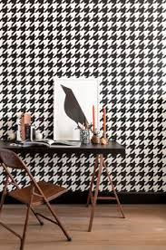 home office wallpaper. Black And White Large Scale Houndstooth Wallpaper For A Timeless Feature In Your Home Office Or Hallway. F