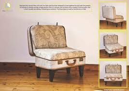 Chaircase - Combining and recreating two objects into one. A Vintage  Suitcase becomes a functional chair.