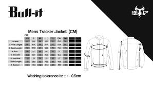 Bull It Jeans Size Chart Mens Tracker Jacket Dark
