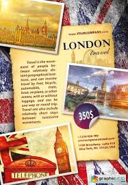 London Travel Flyer Psd Template Free Download Vector