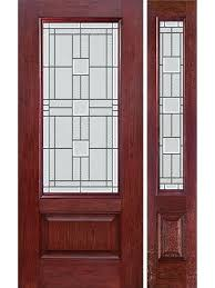cherry 3 4 lite 1 panel single entry door sidelite mo glass by 3 4 lite