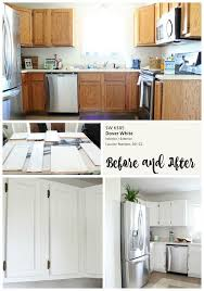 cottage kitchen makeover before and after painted kitchen cabinets sw dover white