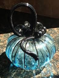 my hand blown glass pumpkin from girl pumpkins and gourds