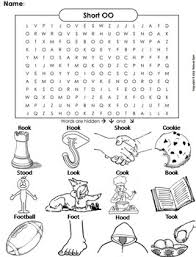 Learning basic math facts using dominoes is included as well as. Short Oo Vowel Team Phonics Worksheet Digraphs Word Search Coloring Sheet Oo Words Digraph Words Phonics